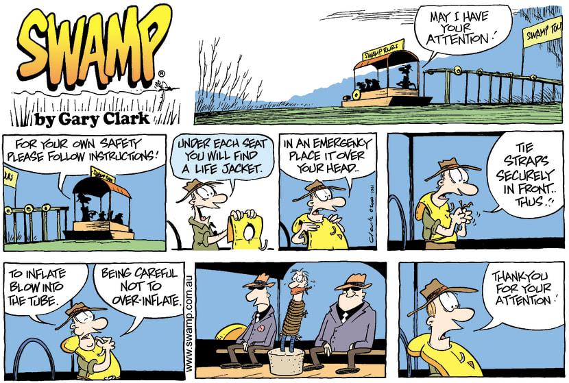 Swamp Cartoon - Safety InstructionsNovember 9, 2003