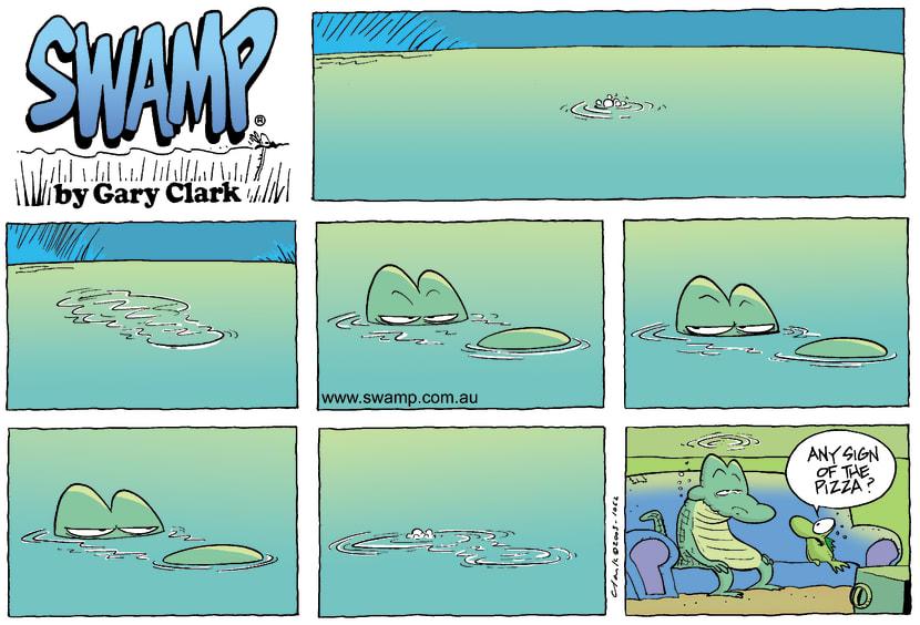 Swamp Cartoon - Lurking CrocNovember 16, 2003