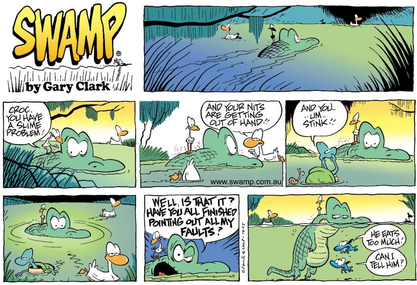 Swamp Cartoon - Croc FaultsDecember 7, 2003