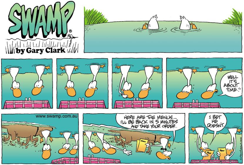 Swamp Cartoon - DinnerDecember 14, 2003