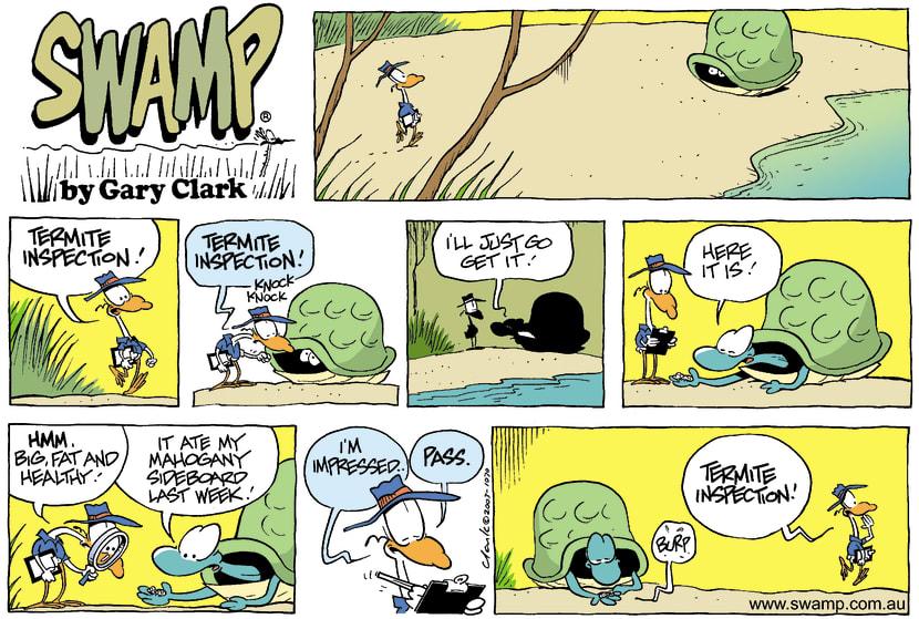 Swamp Cartoon - Termite InspectionJanuary 11, 2004