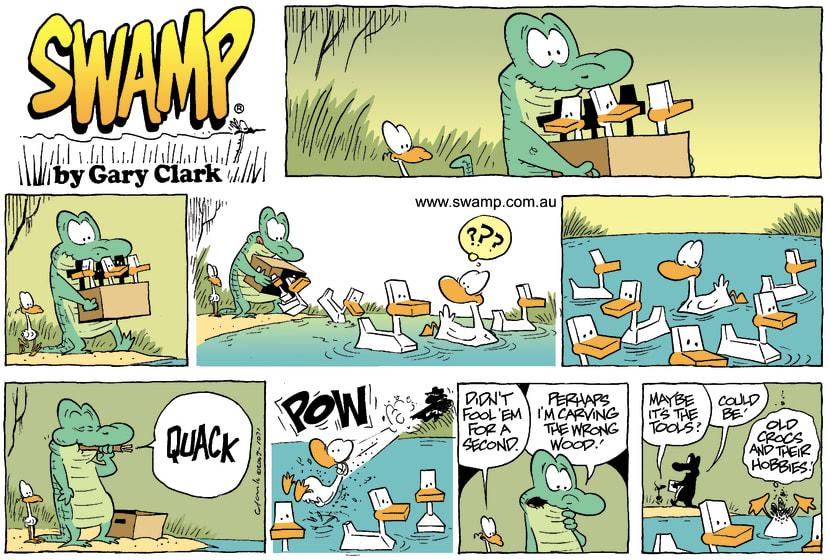 Swamp Cartoon - DucksJanuary 18, 2004