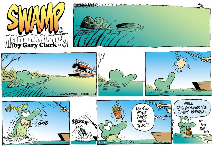 Swamp Cartoon - Feed TimeFebruary 1, 2004