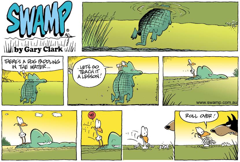 Swamp Cartoon - DogMarch 14, 2004