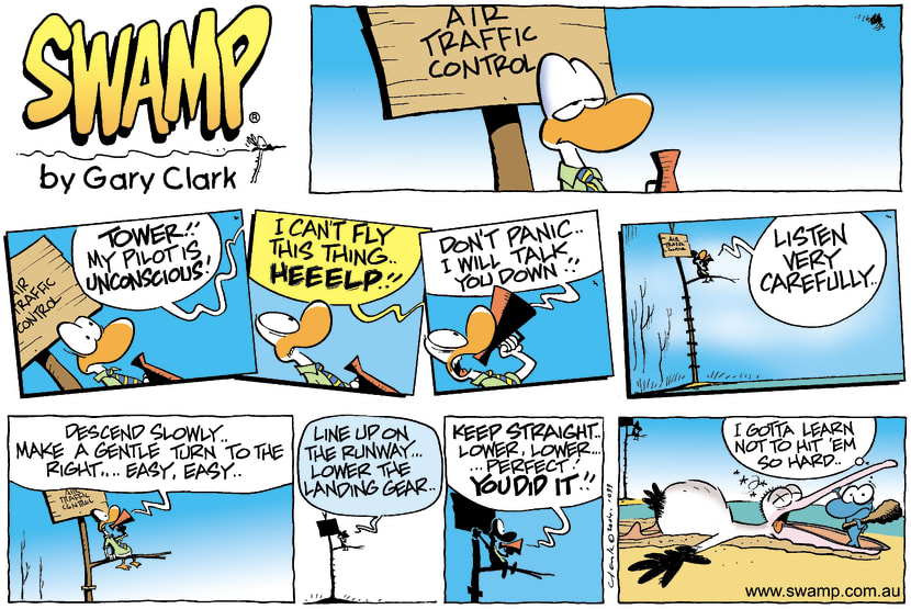 Swamp Cartoon - UnconsciousAugust 1, 2004