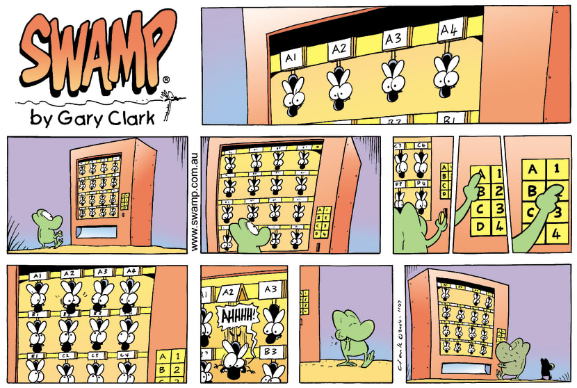 Swamp Cartoon - Vending machine 1September 26, 2004
