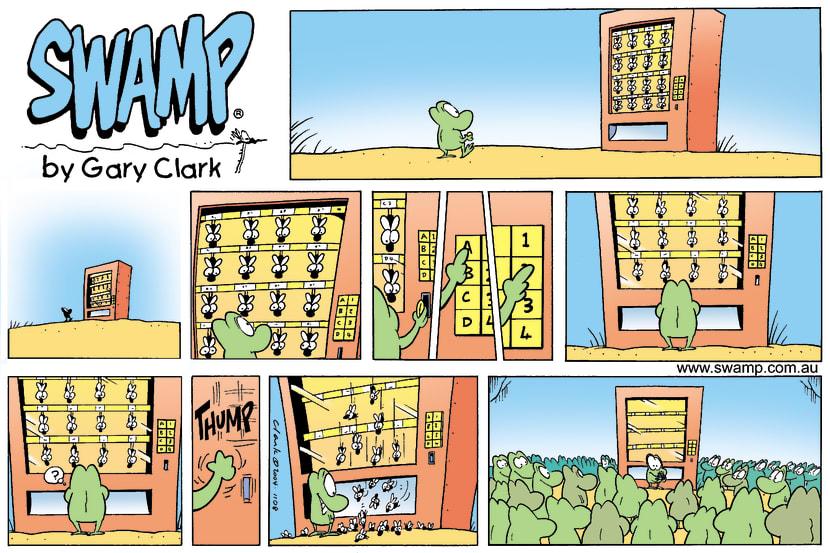 Swamp Cartoon - Vending machine 2October 3, 2004