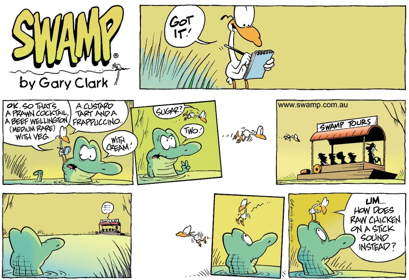 Swamp Cartoon - Menu TimeNovember 14, 2004