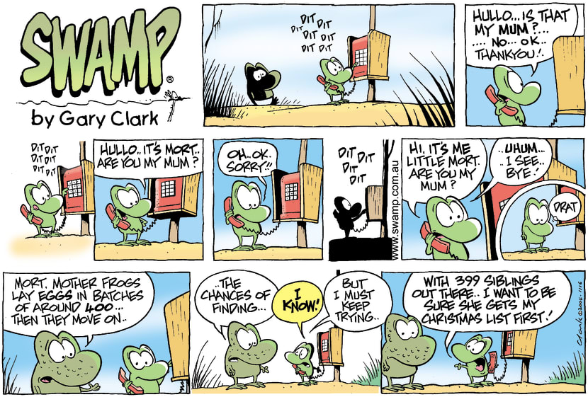 Swamp Cartoon - Mort Frog Christmas ComicDecember 21, 2014