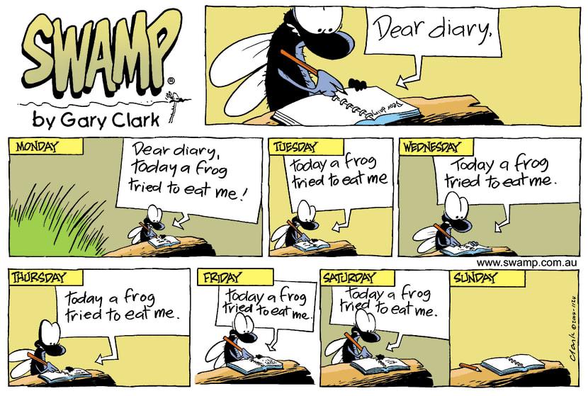 Swamp Cartoon - Dear DiaryJanuary 23, 2005