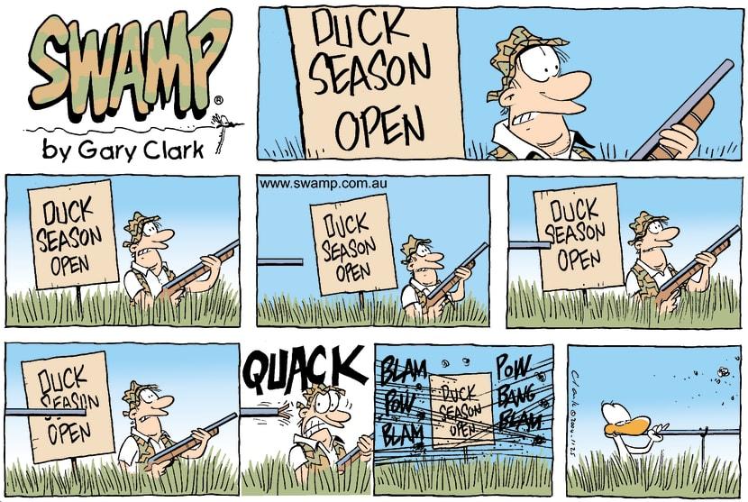 Swamp Cartoon - Duck Hunter PrankedJanuary 30, 2005