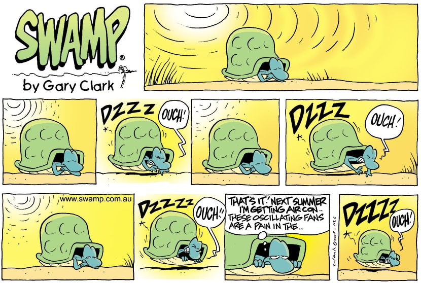 Swamp Cartoon - Cooling OffFebruary 6, 2005
