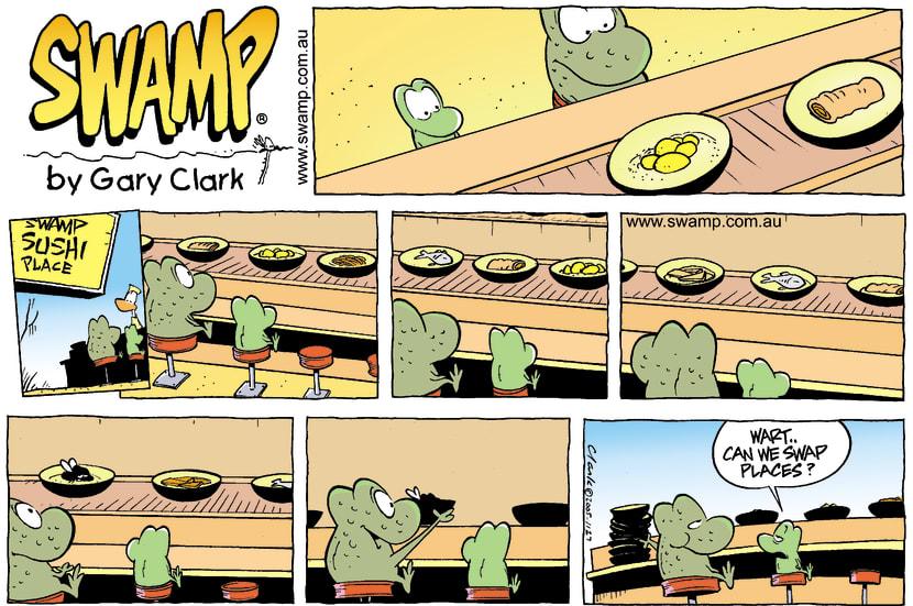 Swamp Cartoon - Exotic MealFebruary 13, 2005