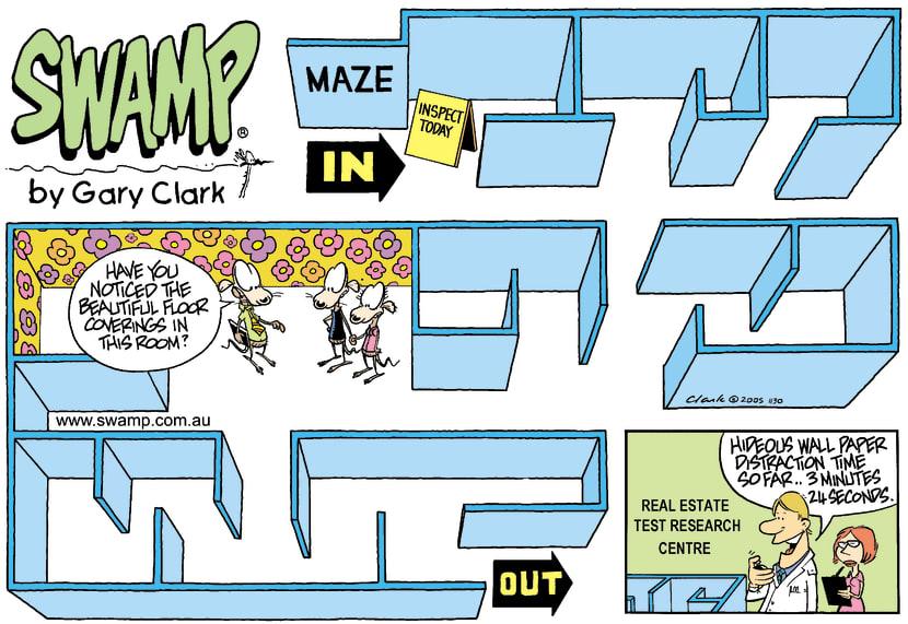 Swamp Cartoon - Hard SellMarch 6, 2005