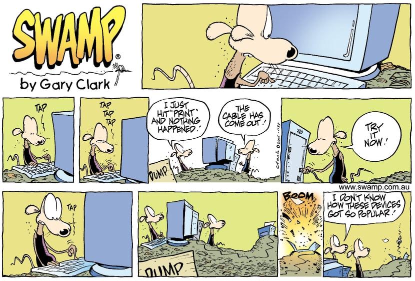 Swamp Cartoon - Computer AgeMarch 27, 2005