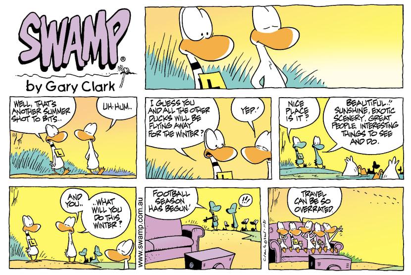 Swamp Cartoon - Heading SouthApril 10, 2005