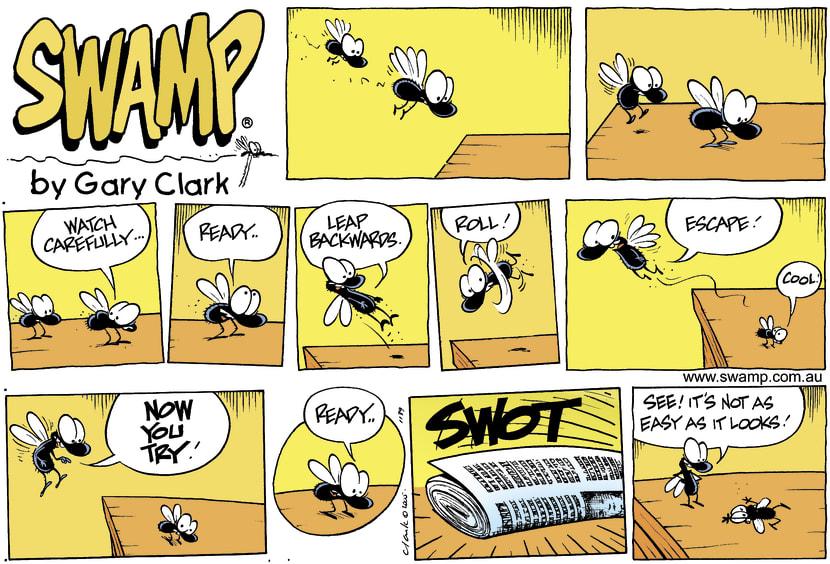 Swamp Cartoon - Fly TrainingMay 8, 2005