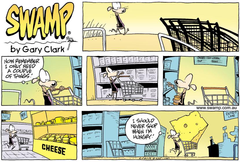 Swamp Cartoon - Shopping funJuly 3, 2005