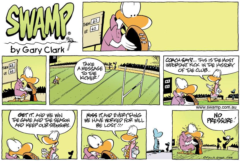 Swamp Cartoon - Footy FunJuly 10, 2005