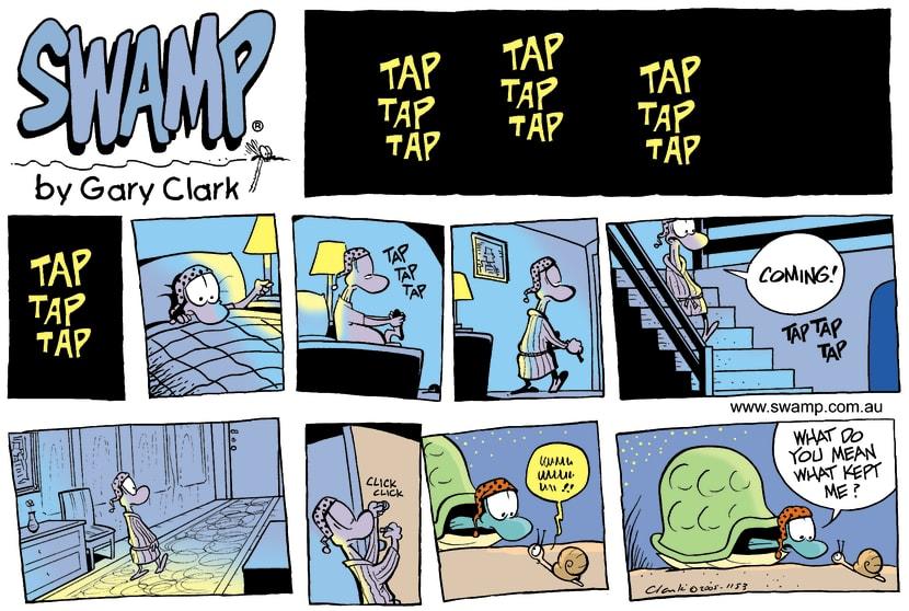 Swamp Cartoon - Night WalkerAugust 14, 2005