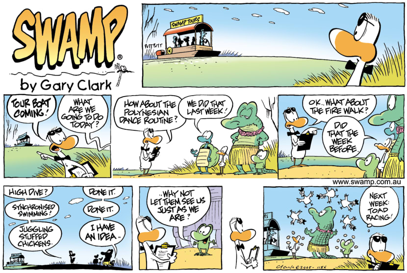 Swamp Cartoon - On with the ShowSeptember 4, 2005