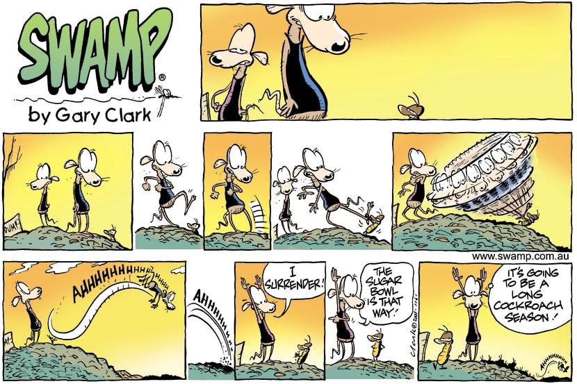 Swamp Cartoon - Cockroach seasonOctober 9, 2005