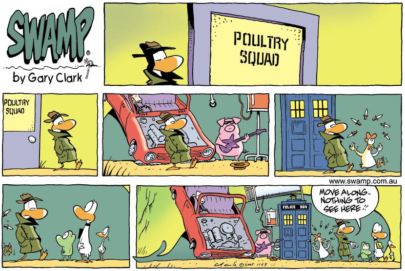 Swamp Cartoon - One of those sort of daysOctober 23, 2005