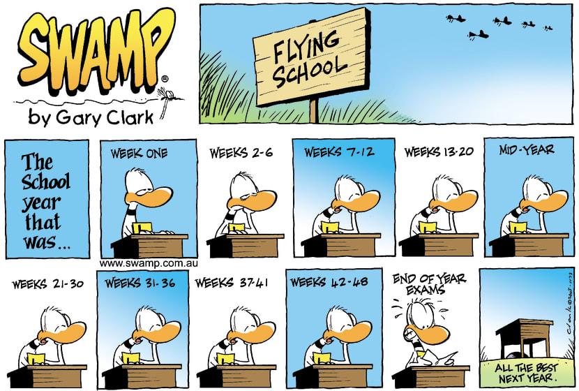 Swamp Cartoon - Another Year another examJanuary 1, 2006