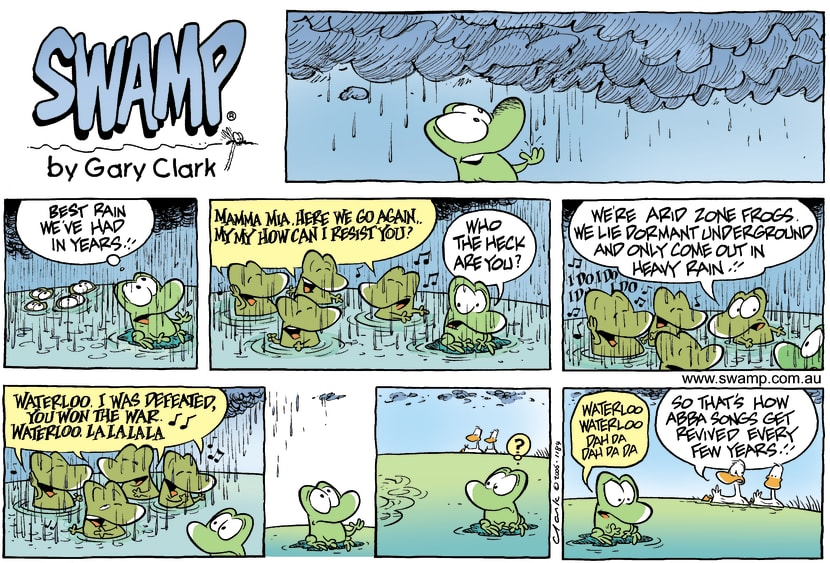 Swamp Cartoon - Rainy DaysMarch 19, 2006