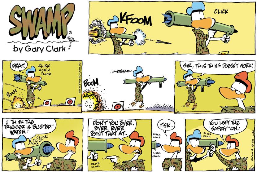 Swamp Cartoon - Armed and DangerousApril 23, 2006