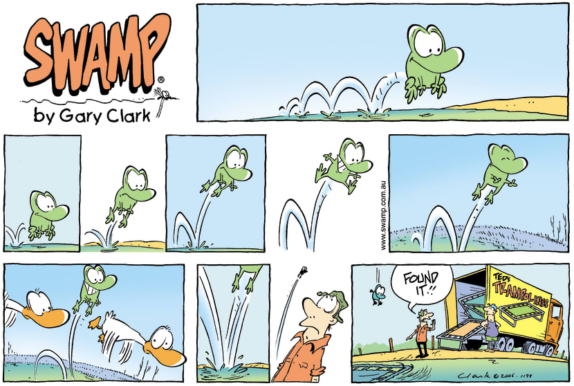 Swamp Cartoon - Spring in his hopMay 14, 2006
