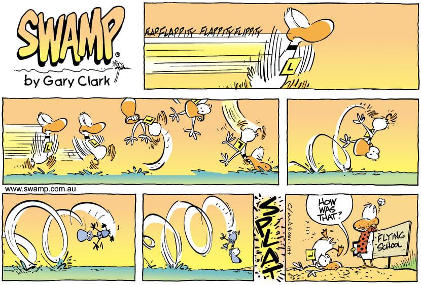 Swamp Cartoon - Up up and awayMay 21, 2006