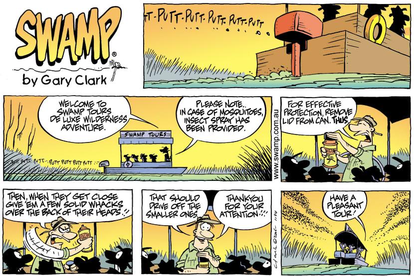 Swamp Cartoon - Evening tourMay 28, 2006