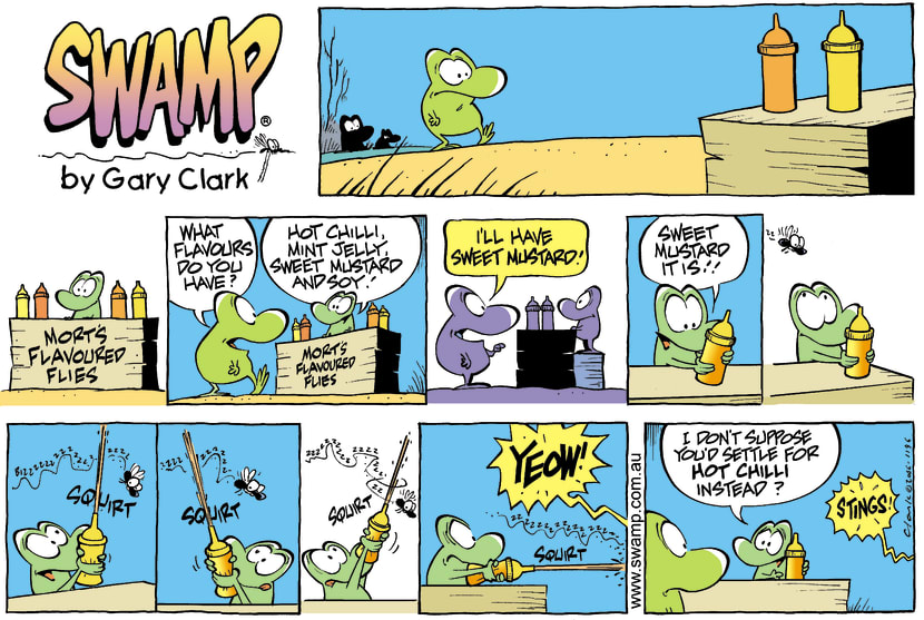 Swamp Cartoon - Mustard madnessJune 11, 2006