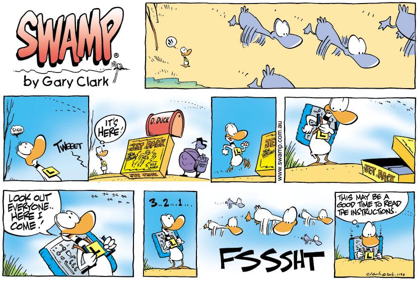 Swamp Cartoon - Up up and awayJune 25, 2006