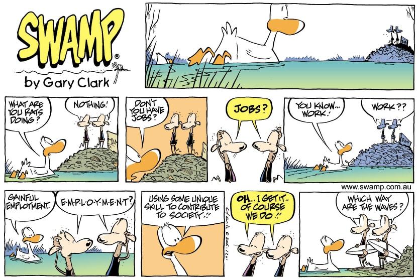 Swamp Cartoon - Avoiding workJuly 16, 2006