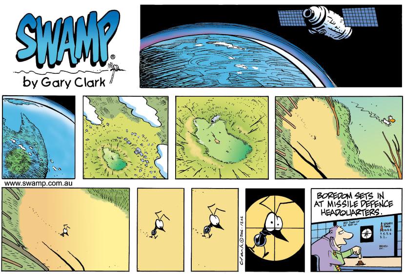 Swamp Cartoon - Long shotJuly 23, 2006