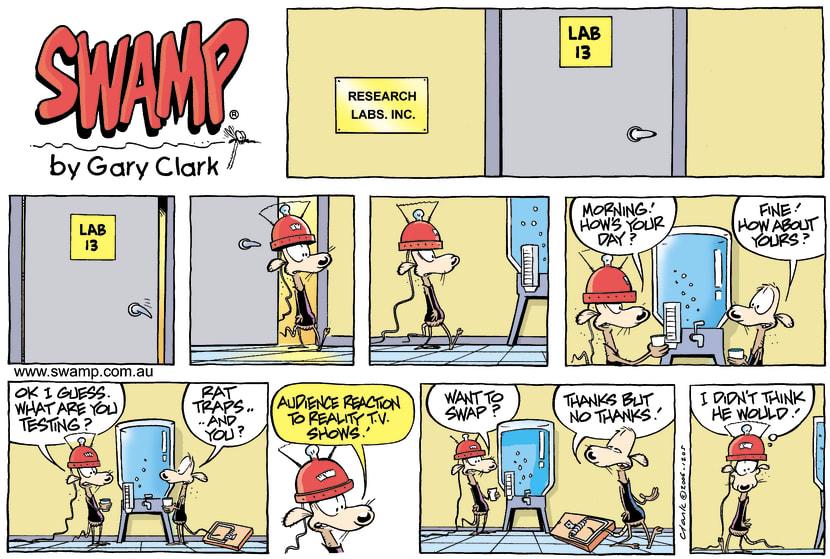 Swamp Cartoon - Its a jobAugust 13, 2006