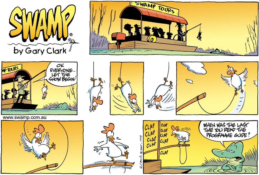 Swamp Cartoon - Putting on a showSeptember 10, 2006
