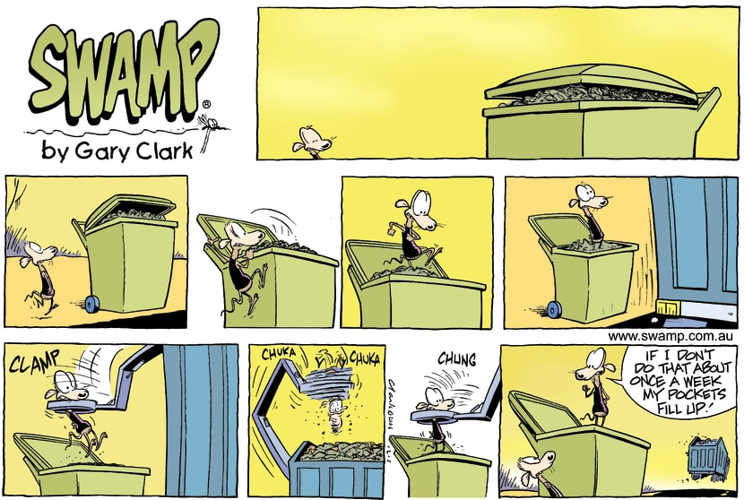Swamp Cartoon - Cleaning upOctober 22, 2006