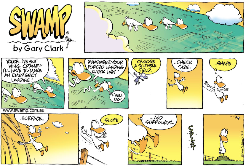 Swamp Cartoon - Flying HighOctober 29, 2006