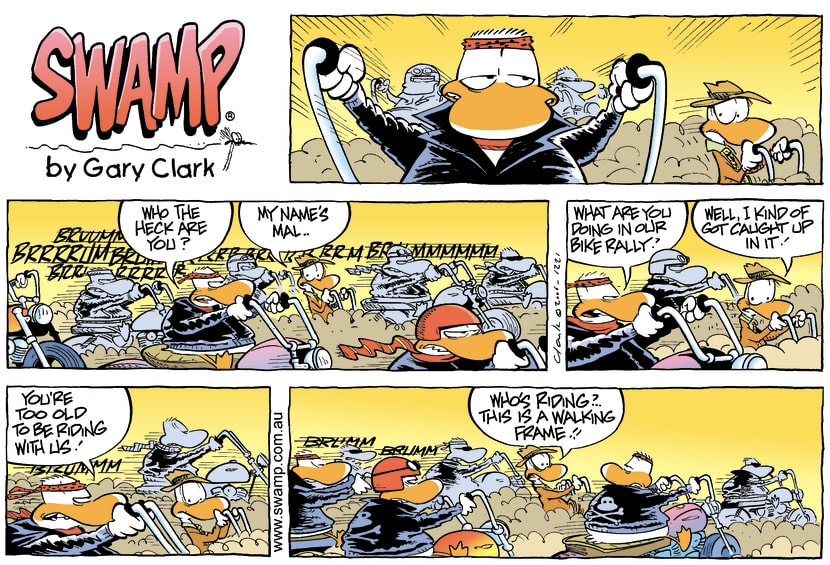 Swamp Cartoon - Biker Gang ring inDecember 3, 2006