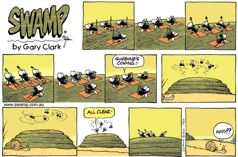 Swamp Cartoon - Pilates On a CowpatDecember 10, 2006