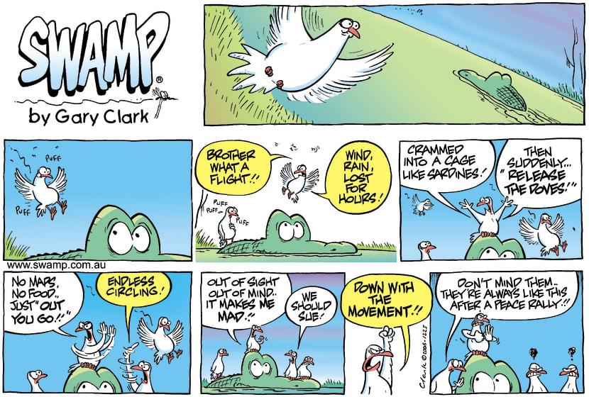 Swamp Cartoon - Peace Doves Anger ComicDecember 31, 2006