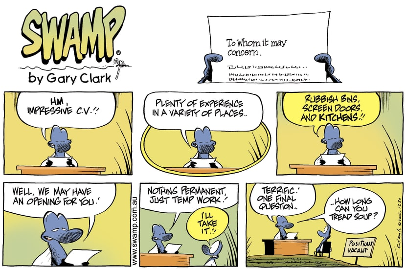 Swamp Cartoon - Impressive ResumeFebruary 4, 2007