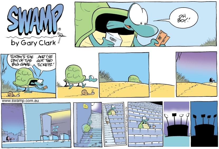 Swamp Cartoon - Big Day of the GameFebruary 25, 2007