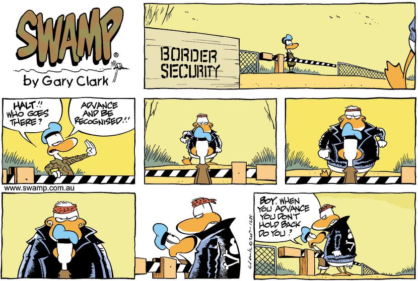 Swamp Cartoon - Border Security DuckMarch 11, 2007