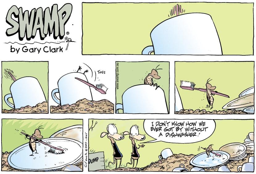 Swamp Cartoon - Cleaning upMay 27, 2007