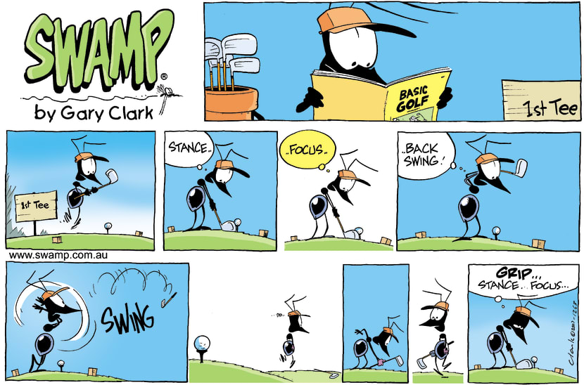 Swamp Cartoon - Teeing offSeptember 30, 2007