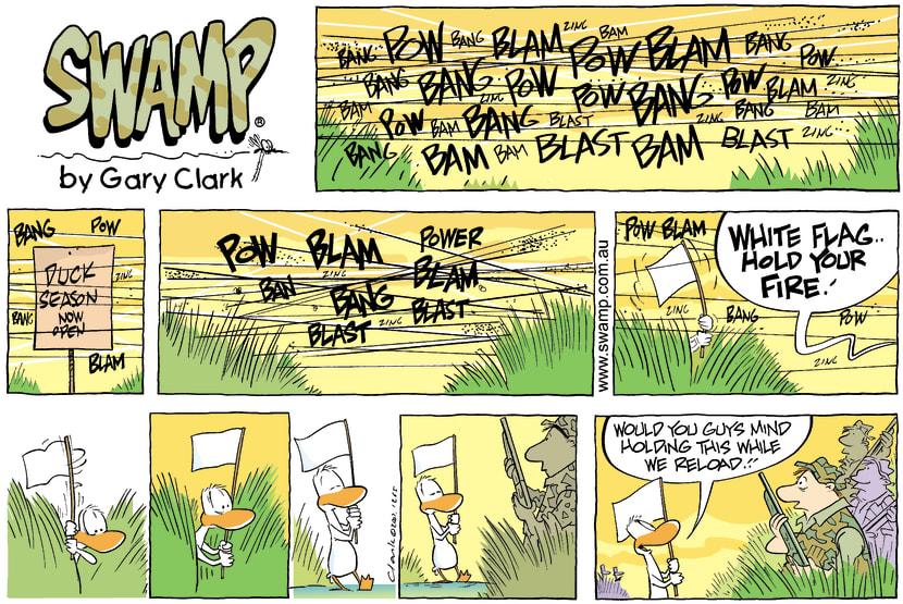 Swamp Cartoon - Hunting FunOctober 14, 2007